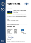 ISO 14001:2015 - Schunk Transit Systems GmbH, Wettenberg