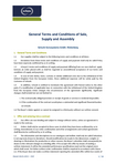 Download: General Terms and Conditions of Sale, Supply and Assembly