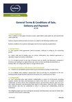 Download: General Terms and Conditions of Sale, Delivery and Payment